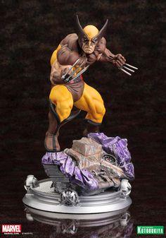 Kotobukiya Fine Art Danger Room Sessions Wolverine Brown Costume Statue