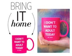 """""""Bring It Home: Jac Vanek Adult Coffee Mug"""" by polyvore-editorial ❤ liked on Polyvore featuring interior, interiors, interior design, home, home decor, interior decorating, Jac Vanek and bringithome"""