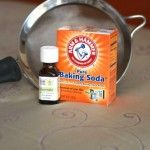 1 cup of baking soda into a mason jar and drop in 4 drops of lavender essential oil.  Put on the lid and shake up the jar. Using a kitchen strainer   sprinkle the baking soda mixture all over the   mattress & let it sit for an hour or more, then   sweep using the hose of your vacuum. The   baking soda helps draw up any moisture and   deep dirtiness.  It deodorizes and leaves the   mattress smelling fresh and clean....I used this and I love the fresh clean scent...No lavendar though!  ♥gigi