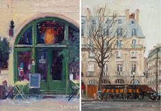 Little paintings of Paris, by Paul Ferney.