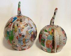 papier m ch pumpkins, crafts, how to, seasonal holiday decor