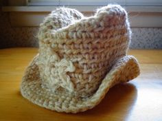 Newborn Baby Crochet Cowboy Hat Photo Prop