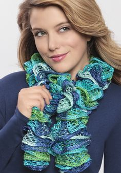 Ruffle Scarf on Pinterest | Loom Knitting Patterns, Felted Scarf and