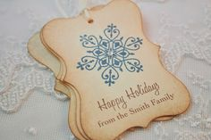 Personalized Christmas Gift Tags Winter by OnTheWingsPaperie, $6.75