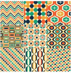 Seamless+retro+pattern+print+vector+1443436+-+by+paul_june on VectorStock®