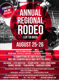 Modern Rodeo Flyer | Ticket Printing