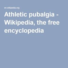 Que es pubalgia wikipedia