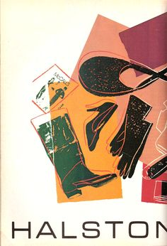 model's own: Vintage Halston Advertising by Andy Warhol