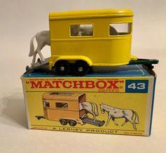 Vintage Matchbox Lesney Pony Horse Trailer #43 in Original Box Mint #Matchbox #PonyTrailer