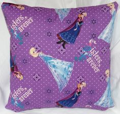 The fifth in the Frozen series. 14 inch pillow made of 100% cotton with a zipper on the bottom for easy washing.