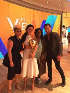 Dancing With the Stars - Season 20 champ Val Chmerkovskiy & Rumor Willis on ABC's The View  - week-10  -  Spring 2015