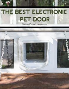 Merveilleux Custom Electronic Pet Door Contraption