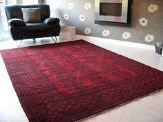 Afghan rug - see Pam, the deep red works!