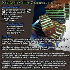 Kek Lapis Coklat Cheese