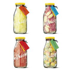 Selfridges candy. The cool thing ('cause I haven't tasted them) is that they come in retro glass bottles.