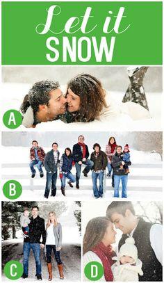 Family Christmas Photos in the Snow