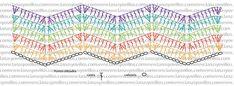 Patron Manta a Crochet Punto Zig Zag Crochet, Chevron Crochet, Crochet Ripple, Crochet Diagram, Crochet Chart, Crochet Motif, Free Crochet, Crochet Stitches Patterns, Crochet Designs