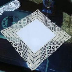 How to Crochet Wave Fan Edging Border Stitch Crochet Table Runner, Crochet Tablecloth, Crochet Doilies, Crochet Lace, Filet Crochet, Crochet Stitches, Crochet Boarders, Crochet Squares, Crochet Designs