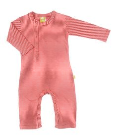 Take a look at this Nui Organics Rose Stripe Una Organic Playsuit - Infant on zulily today!
