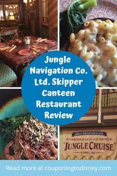 Jungle Navigation Co. Ltd. Skipper Canteen Restaurant Review Magic Kingdom Restaurants, Disney World Restaurants, Walt Disney World Vacations, Jungle Room, Disney World Magic Kingdom, Disney Dining Plan, Last Minute Travel, Disney World Planning, Canteen