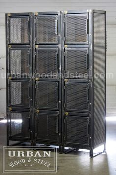 Industrial Furniture for Home Industrial Lockers, Industrial Design Furniture, Industrial Workspace, Industrial Cafe, Industrial Bedroom, Industrial Living, Industrial Farmhouse, Steel Furniture, Cool Furniture
