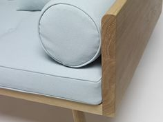 Sofa made of solid FSC oak with organic upholstery by Another Country