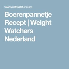 Boerenpannetje Recept | Weight Watchers Nederland
