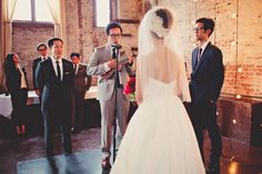 A groom serenades his bride // Michelle + Jonathan // Photo by Les Loups