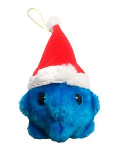 Common Cold (Rhinovirus) with Santa Hat, Giant Microbes Plush from http://www.giantmicrobes.com/uk/products/commoncoldsanta.html
