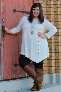 Oatmeal Twirl Tunic {Curvy} | The Fair Lady Boutique