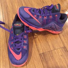 new arrival ef714 45b1b Nike Shoes   Nike Lebron Xii Lo Boys Basketball Shoe Size 5   Color   Purple Red   Size  5bb