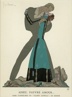 Lepape -Gazette Du Bon Ton C.1921  Pochoir Print French Fashion Art Deco…