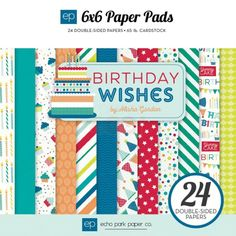 Paper Cardstock Ideal For Scrapbooking 24 Sheets American Crafts 6 x 8 Mat Stack Kraft Pad
