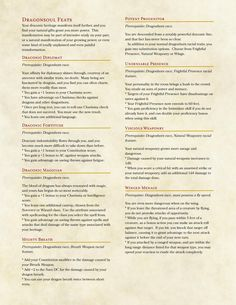 Dragonborn Subrace and Feats by floyd_underpants