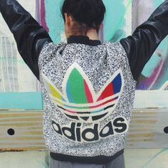Selling my beloved and totally rare Adidas Originals bomber jacket from Jeremy Scott's AW 2009 collection...