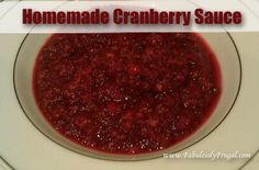 Simple recipe that shows you how to make your own cranberry sauce.