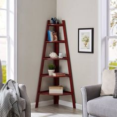 A corner bookcase if you want to spice up that undecorated corner of your living room but have no idea how to actually spice it up.