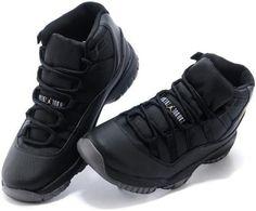 Nike Air Jordan XI 11 Retro Black Gold Men Shoes 378037 0073
