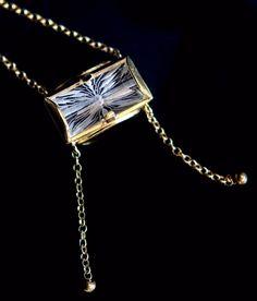 intaglio flower crystal quartz sterling silver gold plated pendant,Greek jewelry #Pendant