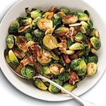 24 Brussels sprout recipes, yum! The one with garlic and bacon looks especially tasty, I need to get some faux bacon and make some for lunch.