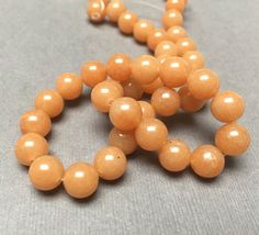 Red Aventurine Beads. Round. Smooth. Gemstone Beads. by trunksale