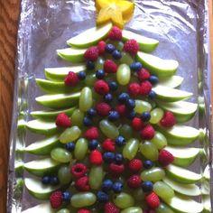 Christmas tree fruit tray. | yummies! | Pinterest