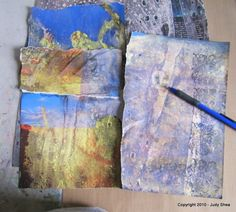 Tutorial for mixed media art..using CitraSolv and National Geographic magazines