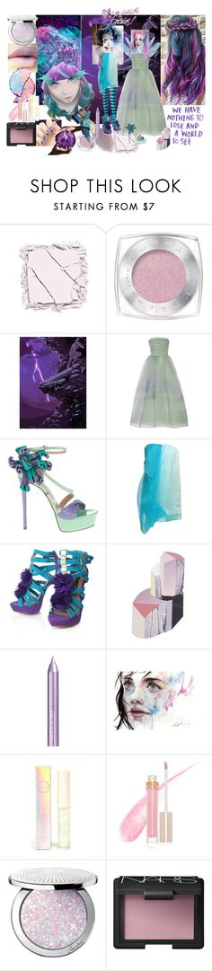 """Galactic Fairy"" by verysmallgoddess ❤ liked on Polyvore featuring beauty, Urban Decay, Obsessive Compulsive Cosmetics, L'Oréal Paris, Monique Lhuillier, Gianmarco Lorenzi, Commuun, French Connection, ferm LIVING and Isadora"