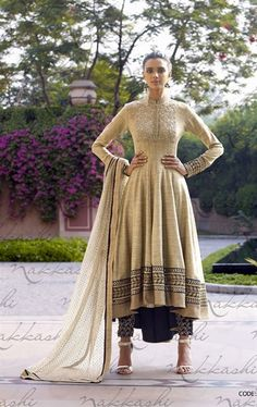 Attractive Beige Designer Wedding Designer Salwar Kameez