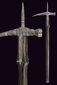 A war-hammer       provenance:	 	North Italy  dating:	 	 16th Century