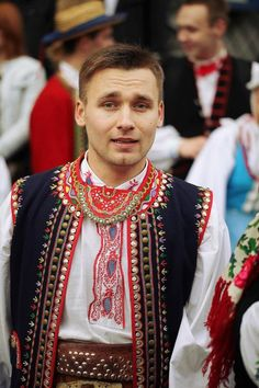 Regional costume of Lachy Sądeckie, Poland [source]. Art Costume, Folk Costume, Polish People, Ukraine, Polish Folk Art, Costumes Around The World, Native American Wisdom, Unity In Diversity, Poland Travel