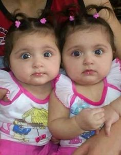 Twinies from Pakistan Twin Babies, Cute Babies, Baby Kids, Twins, Twin Baby Photos, Bright Pink, Cute Kids, Girly, Children