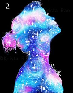 Galaxy Girl Print by KristaRaeArt on Etsy