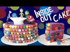 INSIDE OUT CAKE How To Cook That Ann Reardon Disney Pixar Movie Cake - YouTube